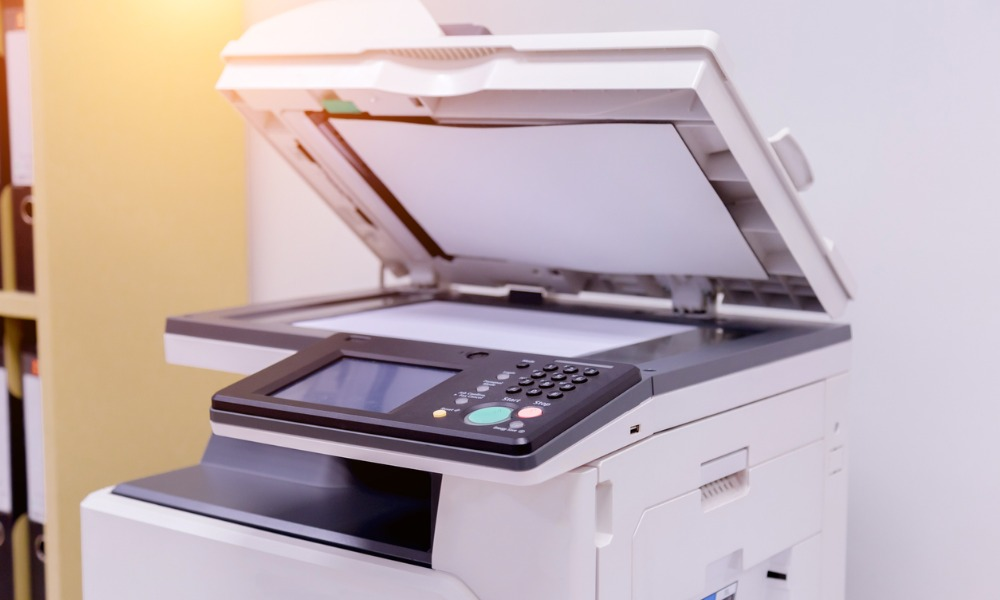 printer scanner laser copy machine supplies in office picture id1004841796